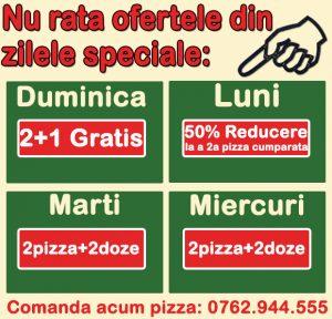 Oferte Speciale Pizza Craiova