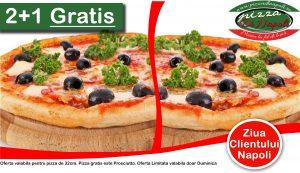 2+1 pizza gratis